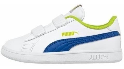 Tenis Puma Niños Casuales Smash V2 Originales 830715