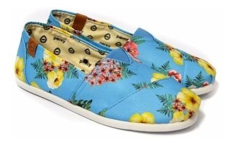 Alpargata Floral Hawaii Celeste Perky Shoes Ac13434 Promo