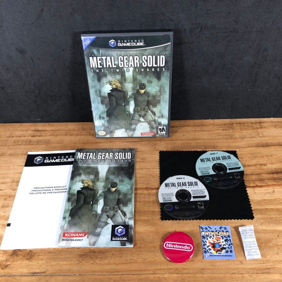 Metal Gear Solid: The Twin Snakes 100% Completo P/ Gamecube!