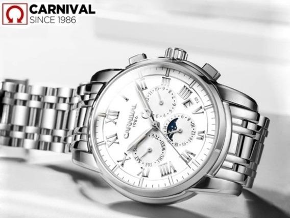 Relógio Carnival T25 Original De Luxo Mecânico Automático