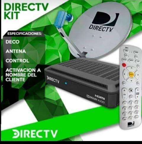 Kit Directv Decodificador Antena Hd Prepago Directv