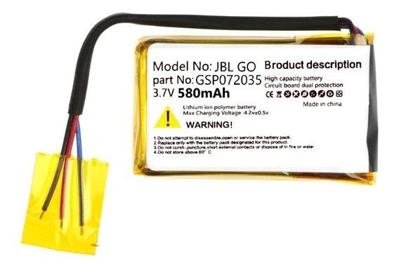 Bateria Compatível Jbl Go 3 Fios 3,7v580mah P/caixa Original