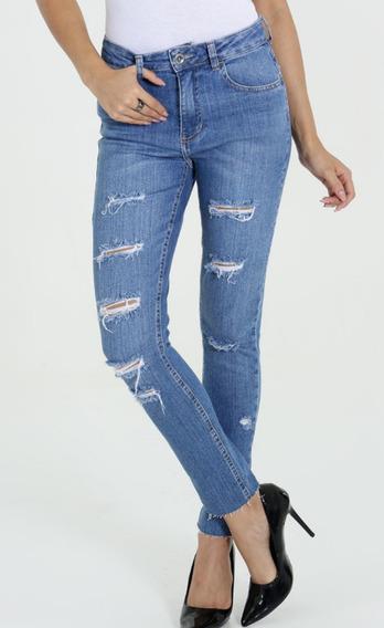 Calça Fem. Jeans Skinny Puídos Diversos Modelos Rf. D3b!nova