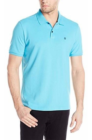 Camiseta Polo Victorinox De Manga Corta Azul Cielo Original