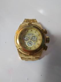Relógio Masculino Atlantis Bolt Dourado Frete Grátis