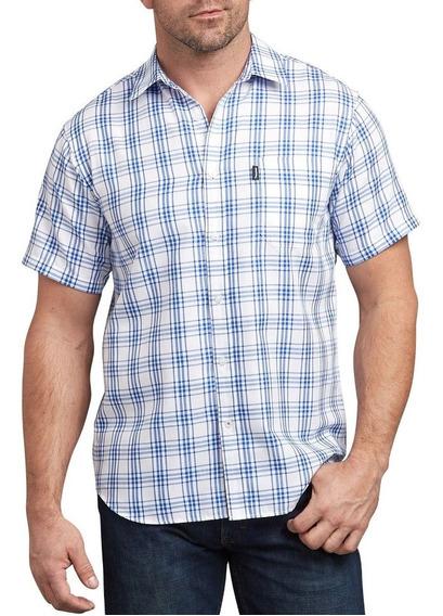 Camisa De Moda A Cuadros Azul Ws530 Rxwb