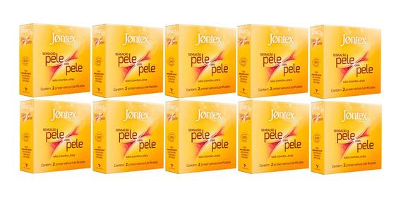 Kit 10x2 Preservativo Jontex Sens Pele C/ Pele(20