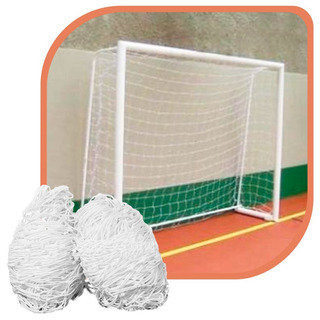 Par Rede Gol Futsal Futebol De Salão Fio 4mm Proteção U.v.