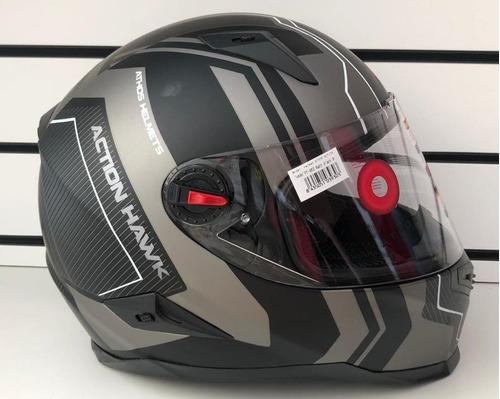Imagen 1 de 5 de Casco Athos Helmets Action Condor - Integral Negro Mate