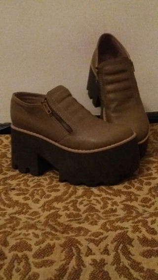 Zapatos Marron Claro, Talle 35.