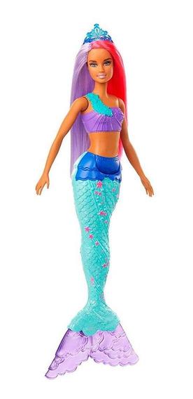 Barbie Dreamtopia Sereia Cabelo Roxo E Vermelho - Mattel