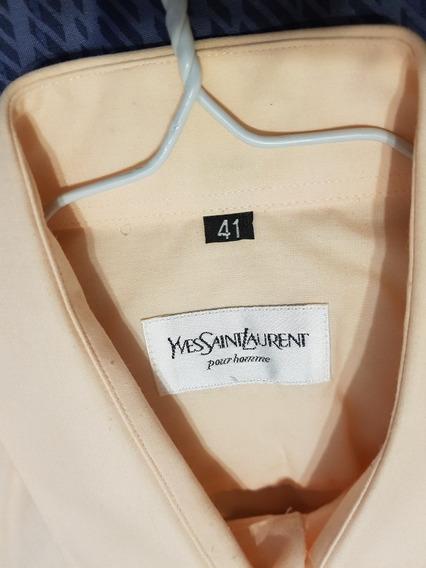 Camisa Hombre Ives Saint Laurent 41 Y Pantalón Pinzado 48