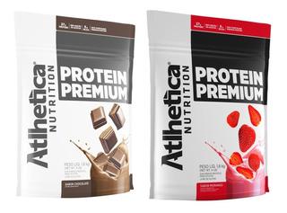 2 Whey Protein Premium 1,8kg + 2 Bcaa 120cps+ 2creatina 100g