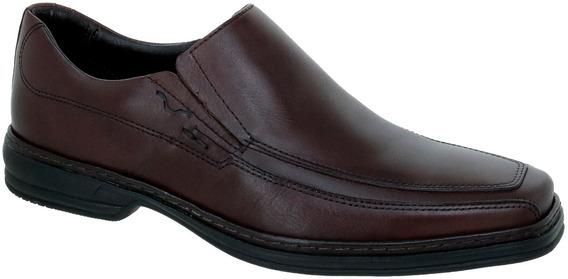 Sapato Social Masculino De Couro Marrom