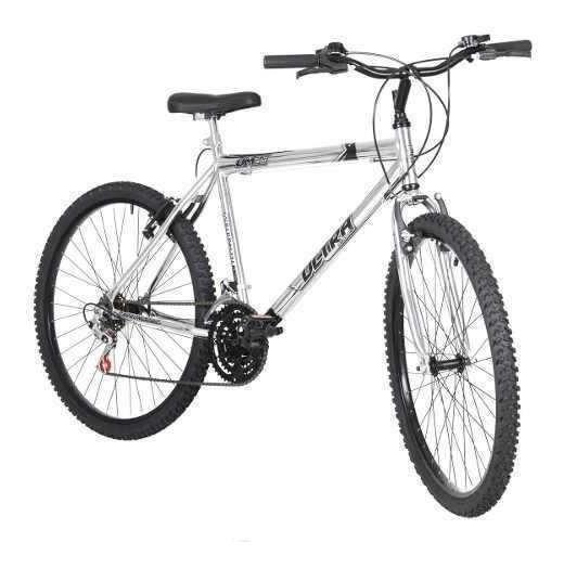 Bicicleta Bike Ultra Masculino Aro 26 Cromada Freio V Brake