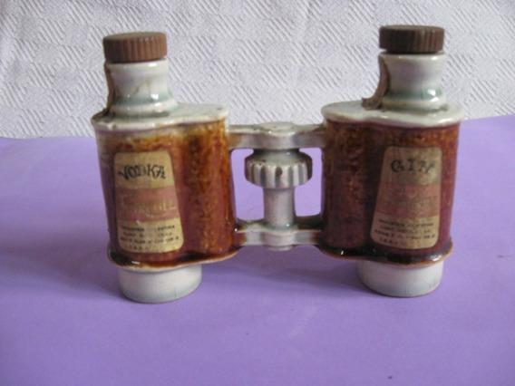 Botellita Ceramica, De Whisky Forcoll Forma De Binocular