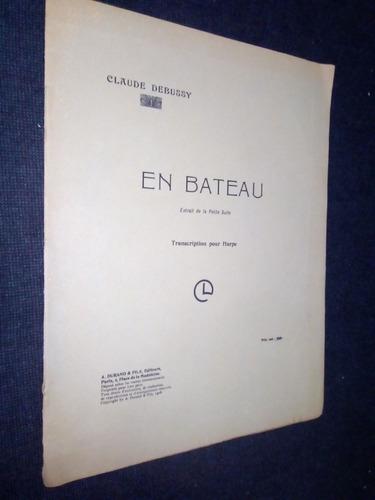 Partitura En Bateau Arpa Claude Debussy