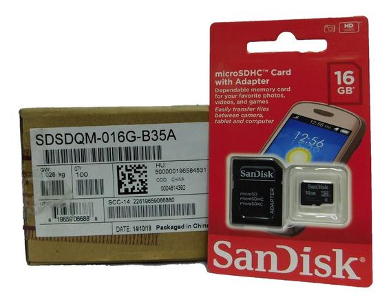 Memoria 16gb Sandisk Clase 4 Sellado Orignal Caja 100 Unidad