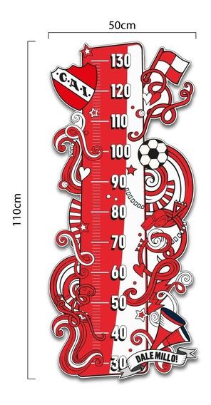 Medidor De Altura Futbol Independiente Vinilo Decorativo
