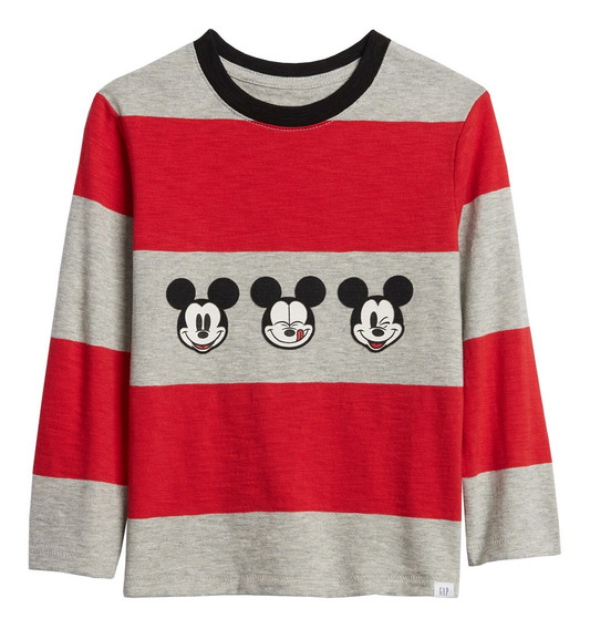 Playera Niño Manga Larga Bebé Disney Mickey Mouse Suave Gap