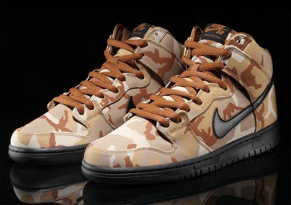 Zapatillas Nike Sb Bota Dunk High Pro Desert Camo (arena Del Desierto) Importada 100% Original Nuevas !!