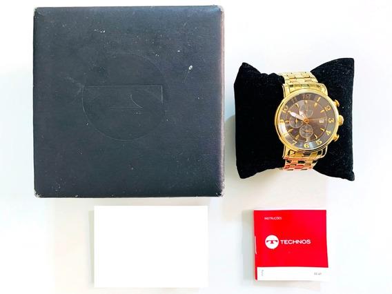 Relógio Technos Dourado Masculino Os10-cr - Usado