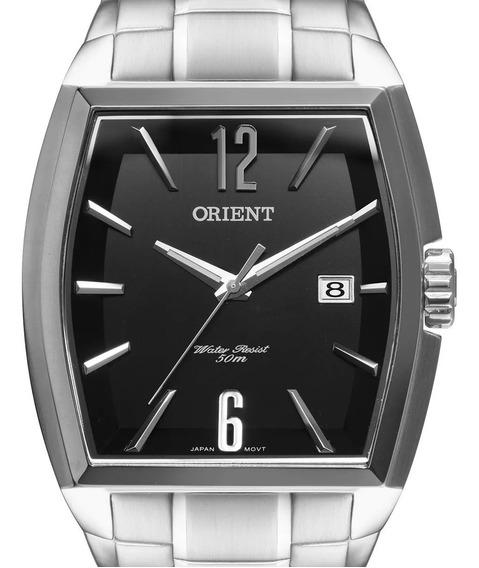 Relógio Orient Masculino Prateado Gbss1050 P2sx + Nf