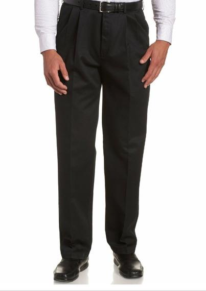 Pantalón Negro Hombre Pinzado Tropical Mecanico Talle Comun