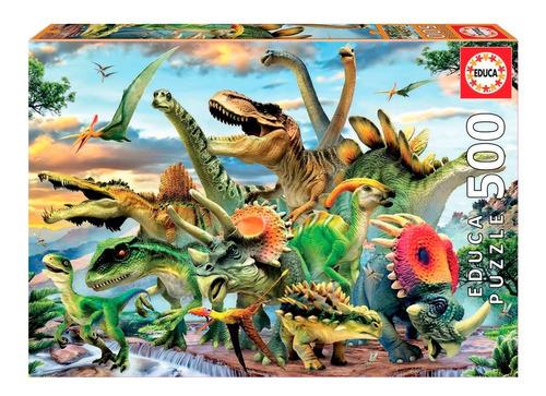 Puzzle Rompecabeza 500 Piezas Dinosaurios Educa 17961