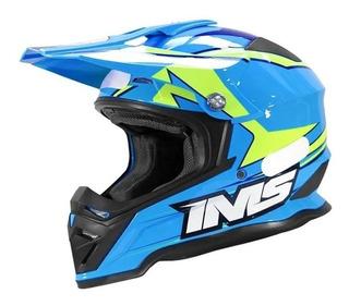 Capacete Ims Army Azul Modelo 2021 Motocross Trilha Enduro