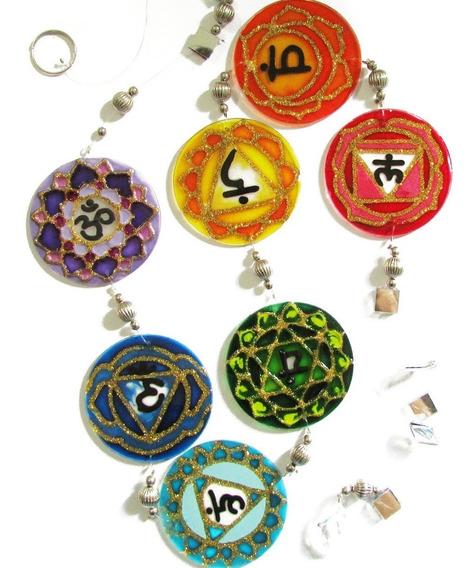 Mandala Meditação Dos 7 Chakras Fio De Luz 6cm