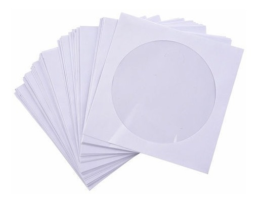 1000 Envelopes Branco Para Cd / Dvd Com Visor Transparente