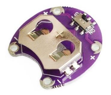 Módulo Suporte Para Bateria Cr2032 Para Arduino Lilypad