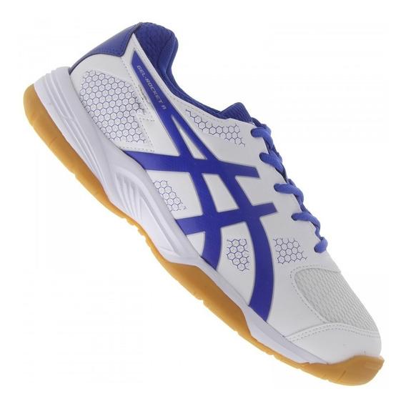 Tênis Asics Gel Rocket 8 A White Futsal Vôley Handbol Squash