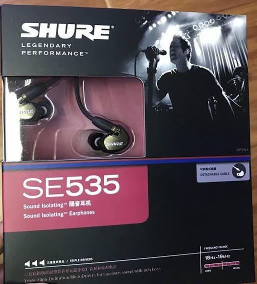Fone In Ear Shure Se535 Original - Monitor Profissional