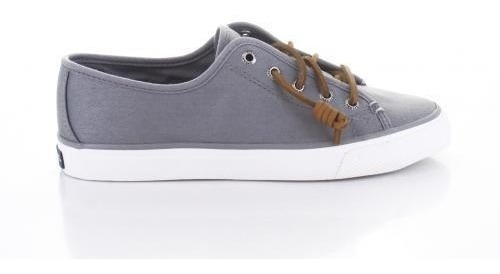 Tenis Sperry Mujer Gris Seacoast Grey With 2 Laces Sts97634