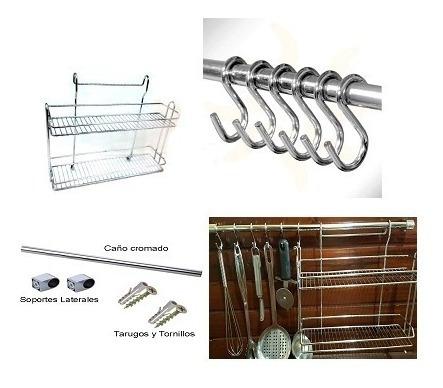Kit Organizador Cocina Especiero Barral Ganchos Colgar