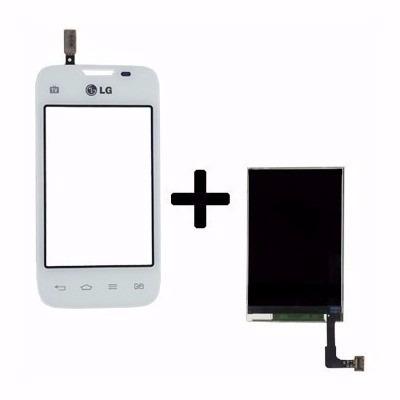 Kit Touch E Display Tela Lcd Lg L35 D157 Dual 157 Branco
