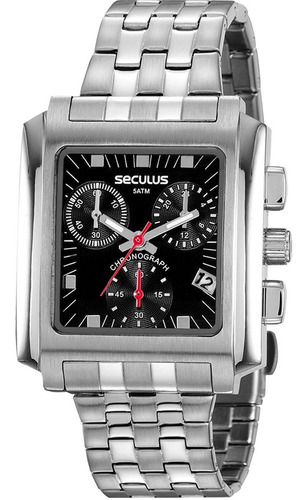 Relógio Masculino Seculus Chronograph Prata 20812g0svna1