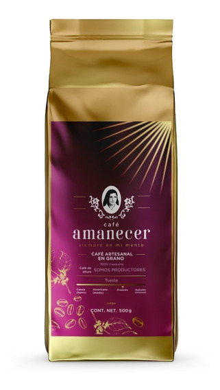 Café Amanecer 100% Puro Gourmet De Altura 500gr En Grano