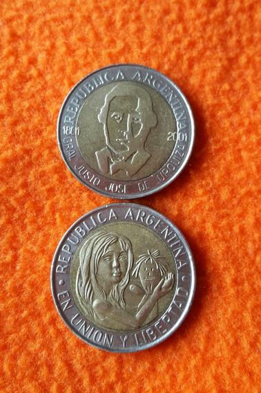 2 Monedas Argentinas Conmemorativas De Unicef -y Urquiza