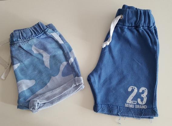 Lote 1 Bermudas Mimo Y 1 Short Zara Talle 1 Año