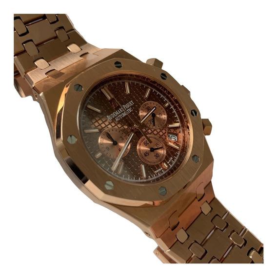 Reloj Audemars Piguet Royal Oak Color Oro Rosa Cara Cafe