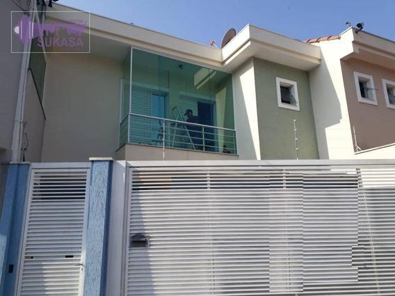 Sobrado Com 3 Dormitórios À Venda, 125 M² Por R$ 580.000 - Jardim Milena - Santo André/sp - So0439