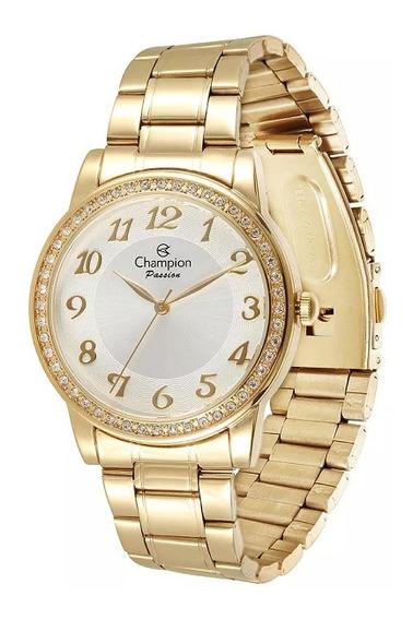 Relógio Feminino Champion Dourado Cn29463b