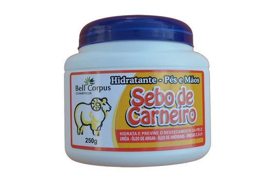 Creme Hidratante Com Sêbo De Carneiro (mãos E Pés) 250gr.