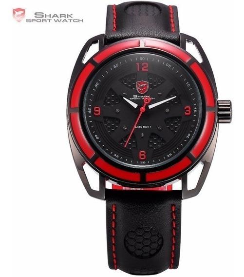 Relógio Masculino De Pulso Esportivo Shark Tubarão Mod Sh472