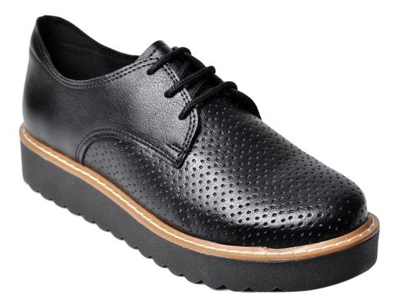 Zapato Clásico Mujer Savage Jm57 Cordones Livianos De Vestir Oxford Mocasín