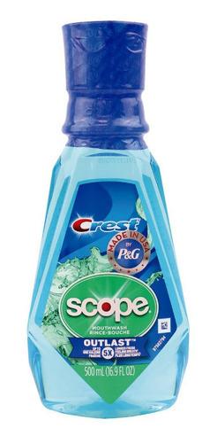 Enjuague Bucal Crest Scope Outlastt Peppermint 500ml Marca C