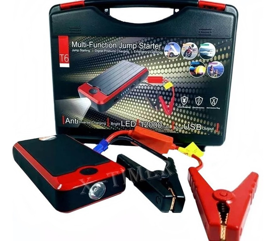 Jump Starte Lanterna E Carregador Bateria Moto Carro Celular
